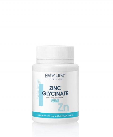 ZINC GLYCINATE  60 VEGETABLE CAPSULES/JAR