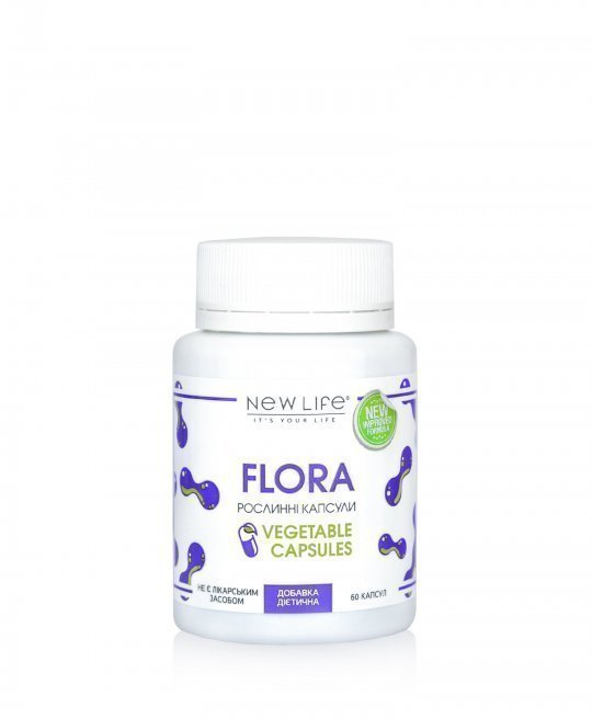 Flora 60 VEGETABLE CAPSULES/JAR